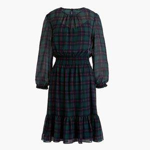 New J Crew Women's Cinched Waist Dress Sz L